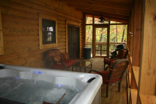 All Cabins come with a Hot Tub!