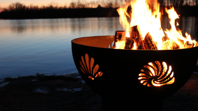 Handcrafted Fire Pit with Design