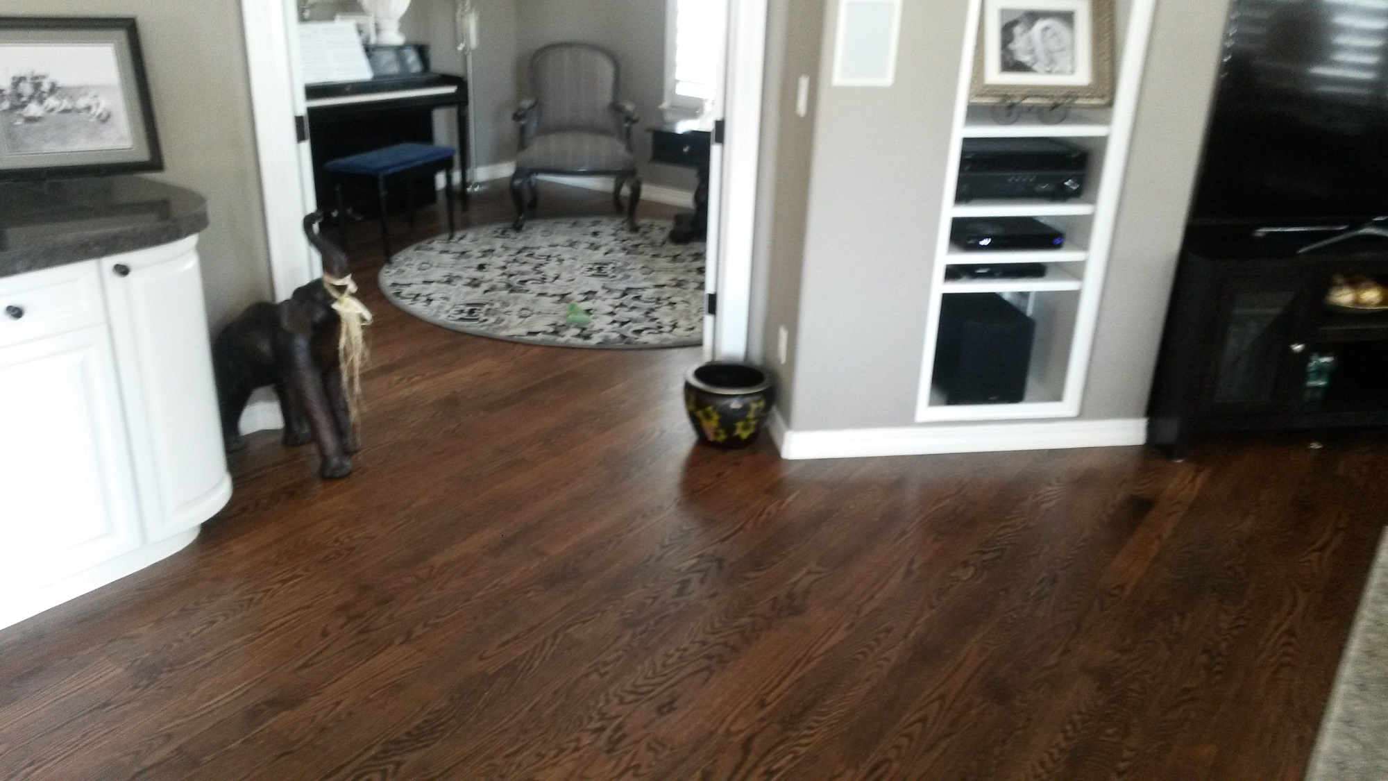 Bbb business profile probity hardwood floors trim inc cut tile at doorway removed tile and carpet to install red oak plank and dailygadgetfo Choice Image