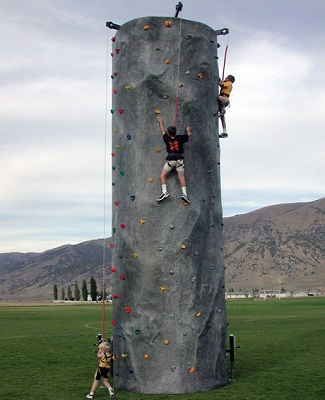 3 Climb Trailered Rock Wall.  This piece is an exciting climb for all ages!