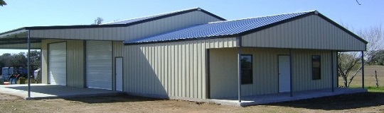 Custom building with extensions