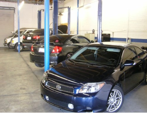 North General Auto Repair Service Bays at Allstate Transmission and Auto Repair in Phx, Az.