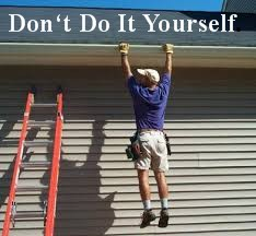 Many home projects are great and you can get the entire family involved.  Somethings you should leave to the Pros.  Fall is Coming and your gutters will be jammed with goo...Let us handle that for you!
