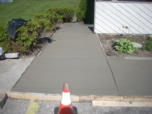 Cement Work- Walkway - After