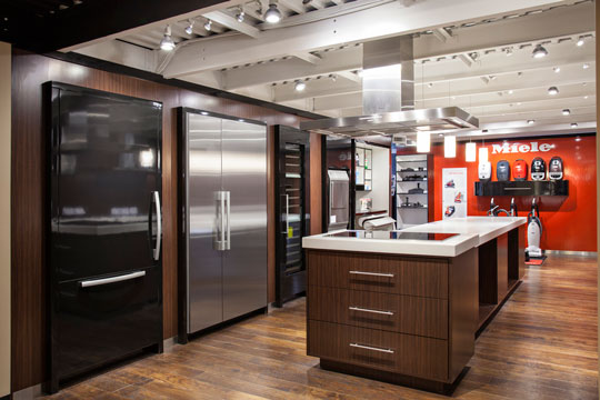 gallery featuring Miele refrigerators, dishwashers, cooking and laundry