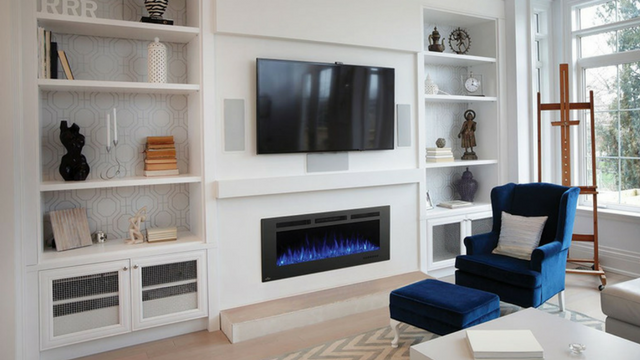 Fireplace with Blue Flame