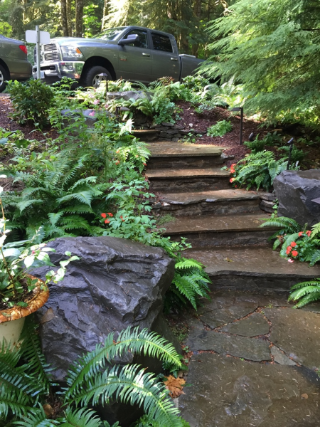 natural variegated bluestone steps designed & installed by All Natures