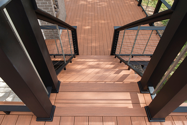 We work hard to provide clean, sharp-looking installations of PVC and composite decks.