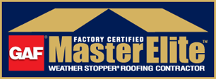 Roofing contract business logo/ad