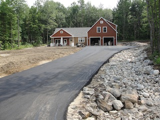 After driveway was paved