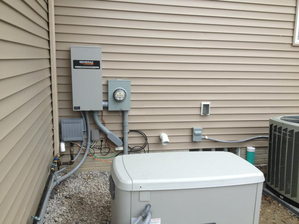 A new generator installation provides peace-of-mind to our customers in the event of a power outage.