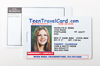 TeenTravelCard, front and back