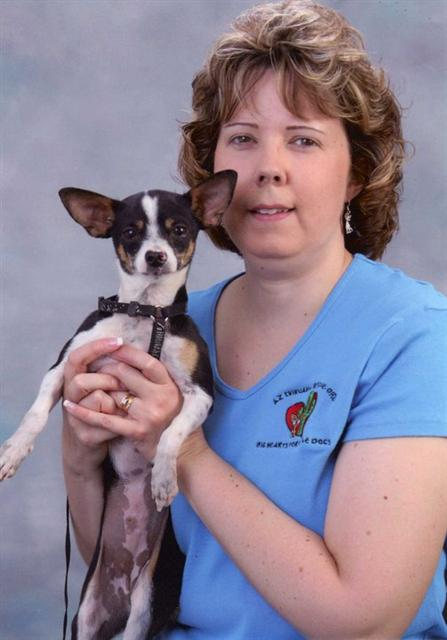 Heather with a foster