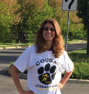Insurance Agent, Christine Angles, Volunteering at the Manassas Park Cougar Literacy Run