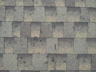 "This is what your shingles could look like just after a hail storm with 1"" to 2"" hail stones."