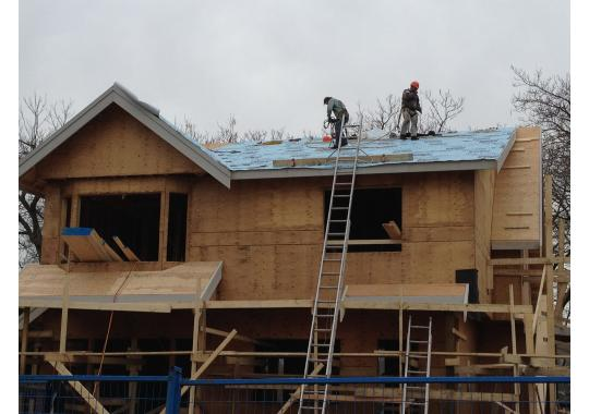 Preparing for new roof installation in Vancouver.