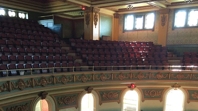 Reupholstering, refinishing and restoration of historic theater seats