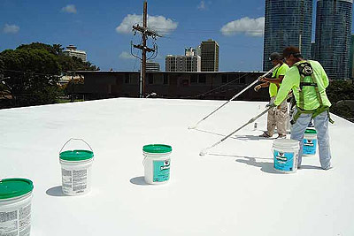 Roof coatings may lower your Commercial Buildings utility bills.
