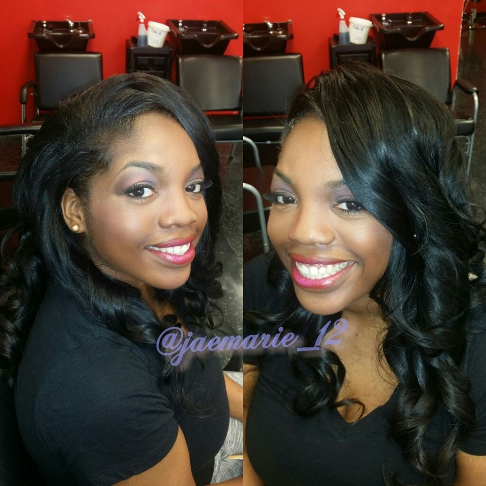 Before and after natural hair cut and style