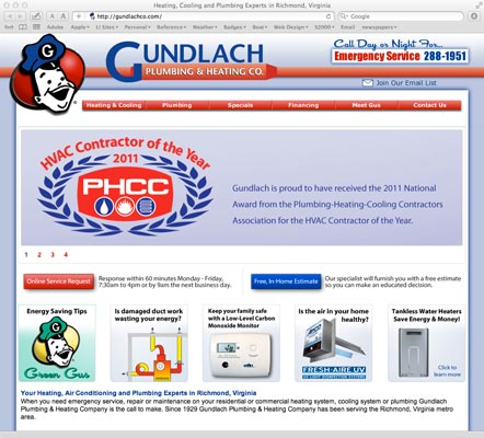 Since 1929 Gundlach has been a fixture to the Richmond area. This site highlights their many products and services.