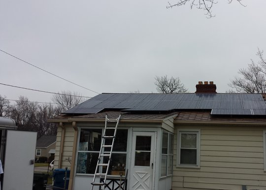Installation of residential 6.12 kW Solar system in Fairview Park, OH