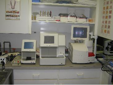 In House lab equipment gives us results in minutes