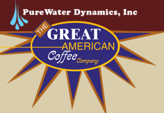 Purewater Dynamics/The Great American Coffee logo