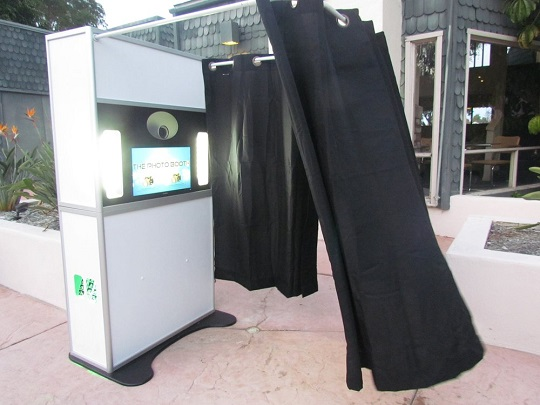 Our open-air optional & touch-screen Photo Booth!