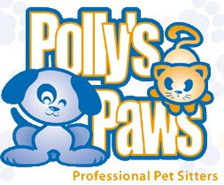 Polly's Paws Professional Pet Sitters  logo