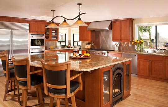 Carter Construction Kitchen Remodel in Mukilteo  Kitchen Remodel with Large Granite Island