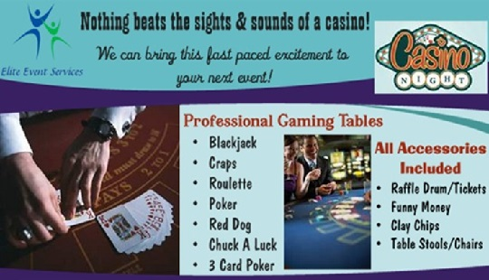 Let us bring the casino to you!  Great for fundraisers!