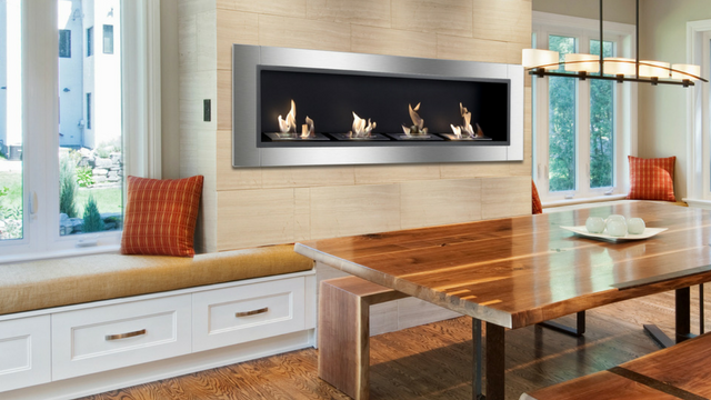 Built-in Ventless Ethanol Fireplace