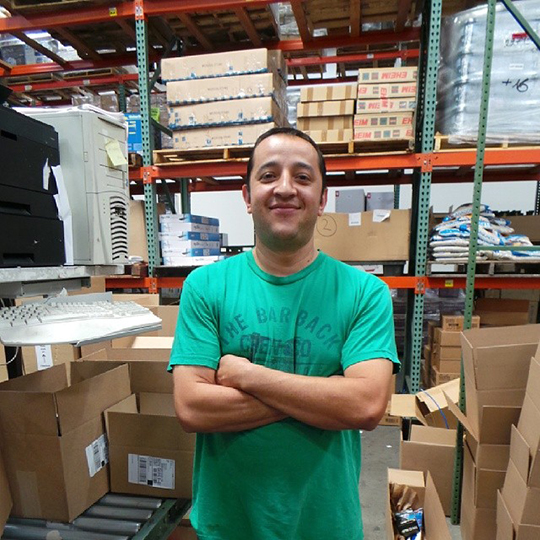 Say hello to our warehouse supervisor, Jose!