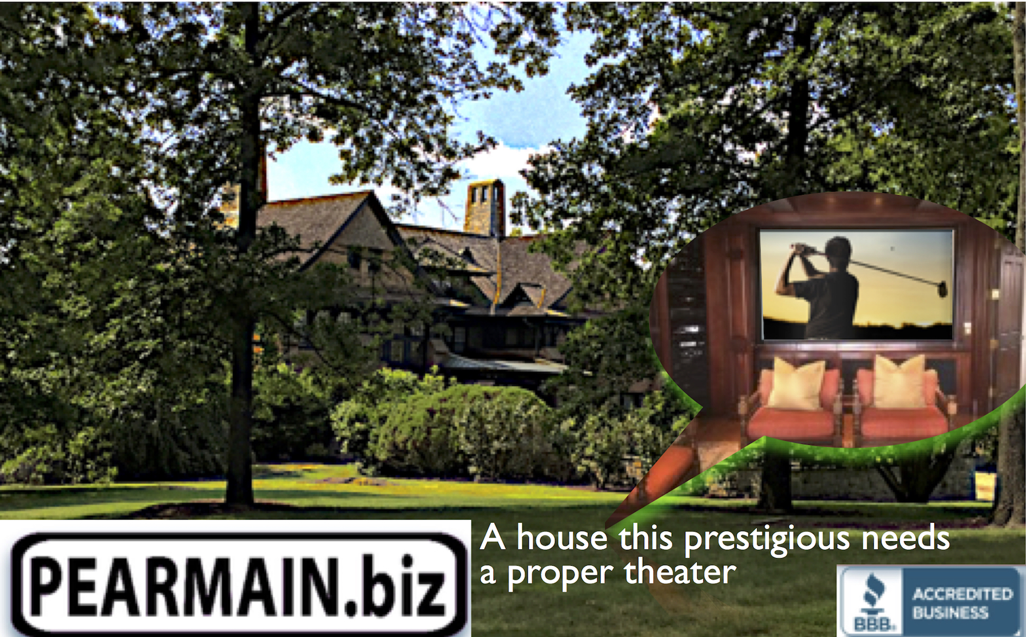 A house this prestigious needs a proper theater