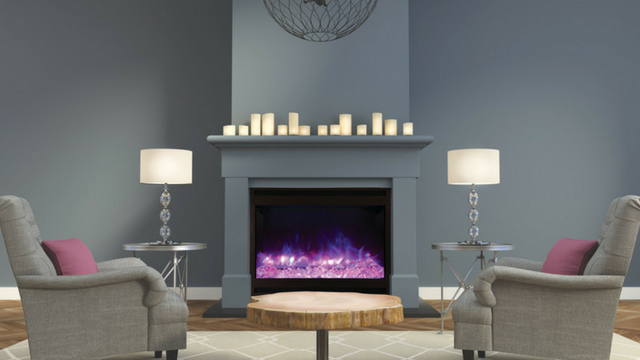 Contemporary Electric Fireplace Insert