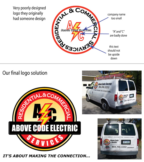 Revision Branding of logo and vehicle graphics