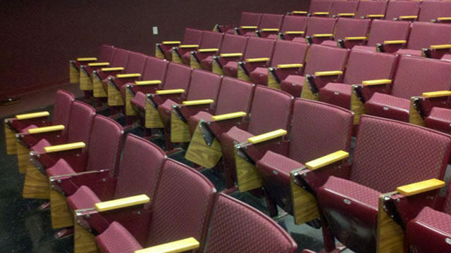 Reupholster and refurbish of lecture hall seats