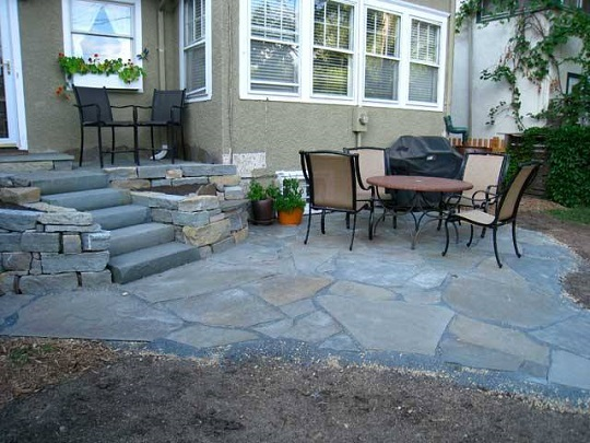 How about this blue-stone PATIO? We can get it done for you.