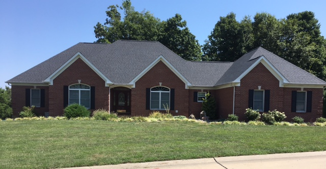 Beautiful Certainteed shingles in Moire Black.
