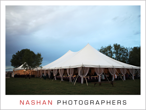 Tents create a lovely outdoor venue for all types of parties.