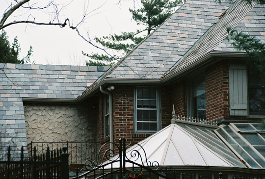 The Gutter Cover Compliments Slate Tile Roof