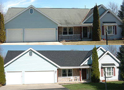 Milwaukee Roofing Before & After