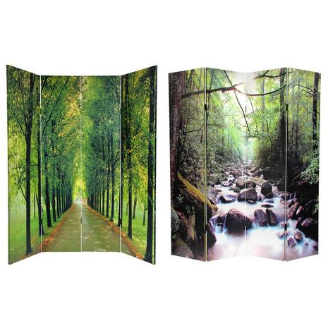 Double Sided Path of Life Canvas Room Divider- one of hundreds of room dividers we carry.