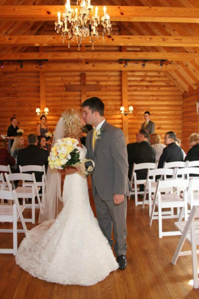 Hold your ceremony in our Hocking Hills Wedding Chapel!