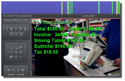 You can truly capture and see exactly what is happening at your business with our POS system integration.  Most systems just overlay the text over analog cameras, but our system is fully compatible even with HD IP Cameras.  The data is captured and then st