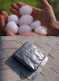 "Every year hail stones as small as 1"" in diameter up to 3"" or greater cause damage to homes. Most home owners do not even know that they have damage which will lead to leaks and serious problems."