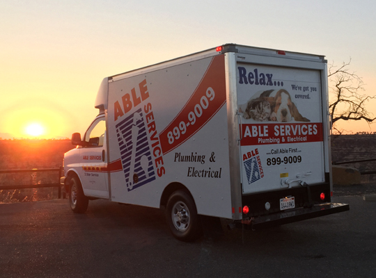 "The good guys ride off into the sunset after helping our friends/clients enjoy their homes with expert, safe and beautiful solutions to their plumbing and electrical needs. How do you like this newest addition to our fleet? ""Relax... We've got you covered."