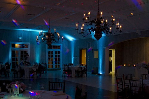 Some of our beautiful custom LED uplighting which can be used to highlight walls, columns, or various architectural pieces.
