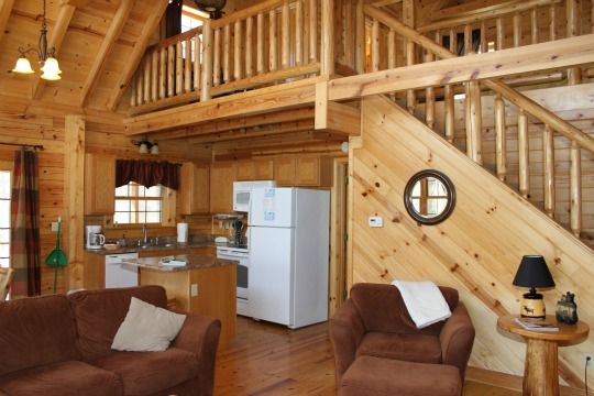 All cabins come stocked with a fully equipped kitchen!