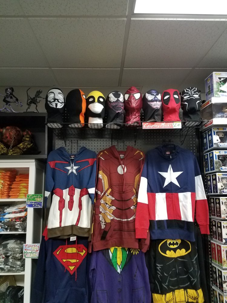 Some cosplay masks that we have available.